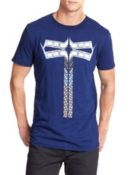 36 Pixcell Cotton Dragonfly Tee Bright Navy