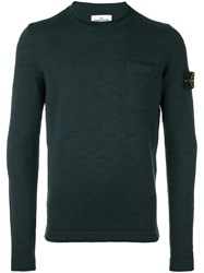 Stone Island Chest Pocket Sweater Green