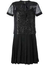 Class Roberto Cavalli Sequinned Mesh Dress Black
