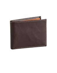 Perry Ellis Leather Billfold Brown