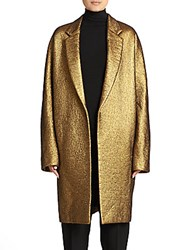 Donna Karan Metallic Easy Coat Burnished Gold