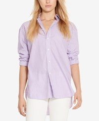 Polo Ralph Lauren Striped Shirt Lilac White