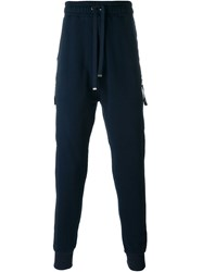 Blood Brother Zip Pocket Track Pants Blue