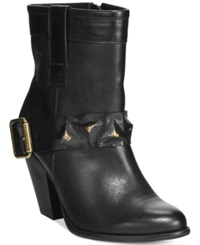 Dolce By Mojo Moxy Blackjack Studded Strap Booties Women's Shoes