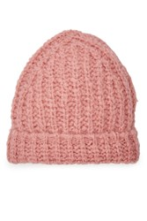 81 Hours By Dear Cashmere Hat With Alpaca And Merino Wool Rose