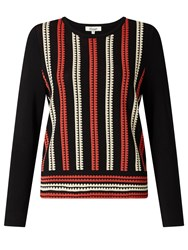 Alice By Temperley Somerset Jacquard Knit Jumper Black