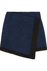 Elizabeth And James Ruby Floral Jacquard Mini Skirt Blue