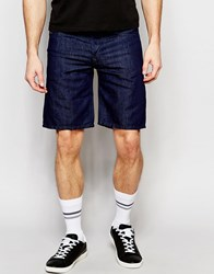 Diesel Denim Shorts Bustshort Straight Fit In Dark Rinse White