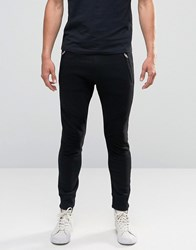 Diesel P Work Sweat Pants Biker Knee Detail Black
