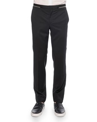 Givenchy Zipper Waist Trimmed Trousers Black