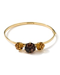 Ippolita 18K Gemma Citrine And Smoky Quartz Bangle Gold