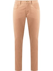 Amapa Five Pocket Chino Trousers Brown
