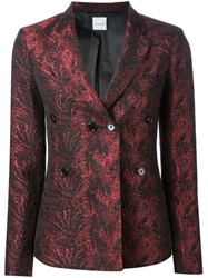 Eggs Jacquard Blazer Red