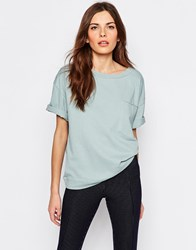Selected Volva T Shirt With Pocket Blue