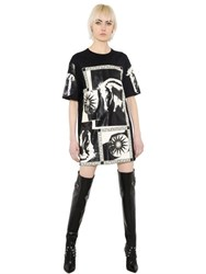 Fausto Puglisi Horse And Sun Printed Jersey T Shirt Dress