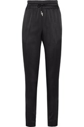 Jason Wu Crepe De Chine Tapered Pants Black