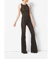 Floral Lace Flared Jumpsuit