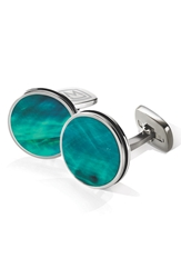 M Clip Stainless Steel Cuff Links Stainless Steel Teal
