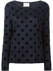 Forte Forte Polka Dot Long Sleeve T Shirt Blue