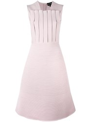 Giorgio Armani Sleeveless Flared Dress Pink And Purple