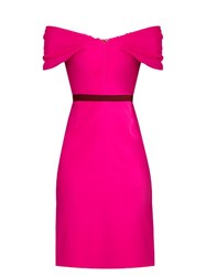 Emilio De La Morena Olga Bi Colour Silk Blend Dress Pink