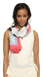 Marc By Marc Jacobs Blurred Dot Scarf Talc Multi