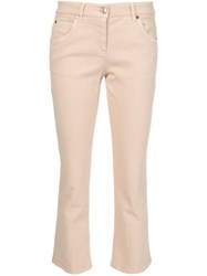 Brunello Cucinelli Flared Trousers Nude And Neutrals