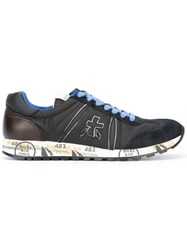 Premiata White 'Lucy' Sneakers Black