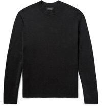 Cos Textured Wool Mock Neck Sweater Black
