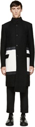 D.Gnak By Kang.D Black And White Asymmetrical Coat
