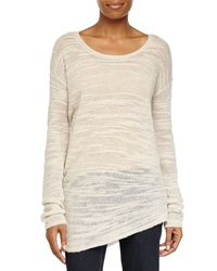 Halston Heritage Long Sleeve Asymmetric Sweater Cream