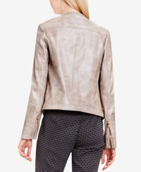 Vince Camuto Faux Leather Moto Jacket Ash Rose