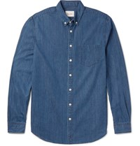 Steven Alan Masters Button Down Collar Denim Shirt Indigo