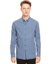 Kenneth Cole Reaction Checked Button Down Long Sleeve Shirt