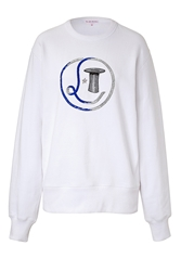 Olympia Le Tan Embroidered Cotton Ribbon Sweatshirt