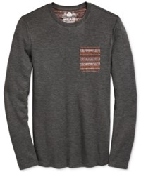 American Rag Men's Solid Thermal Print Pocket T Shirt Only At Macy's Charcoal