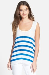 Women's Plenty By Tracy Reese Back Tie Tank White Vivid Blue