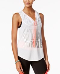 Energie Active Juniors' Graphic Cowl Neck Tank Top White