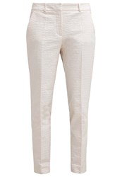 Comma Trousers Creme Beige