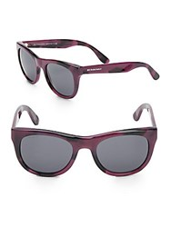 Burberry 53Mm Wayfarer Sunglasses Purple