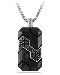 Carbon And Pave Diamond Tag Grey David Yurman