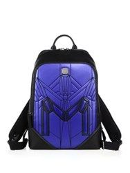 Mcm Bionic Faux Leather Backpack True Navy