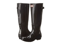 Hunter Original Back Adjustable Gloss Black Women's Rain Boots