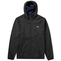 Lacoste Hooded Windbreaker Jacket Black