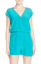 Women's Charlie Jade Surplice Neck Silk Romper