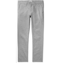 Nn.07 Marco Slim Fit Herringbone Brushed Stretch Cotton Blend Chinos Gray