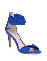 Vince Camuto Camden Twisted Suede Sandals Blue