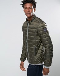 Napapijri Aerons Quilted Jacket Zip Front Mountain Green