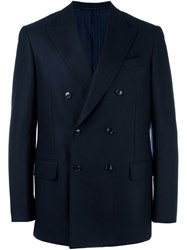 Massimo Piombo Mp Double Breasted Blazer Blue
