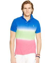 Polo Ralph Lauren Custom Fit Dip Dyed Polo Shirt Cruise Rose